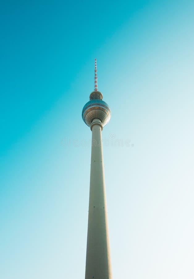 Berlin, Deutschland 09 09 18 Ansicht von Fernsehturm in Berlin stockbild