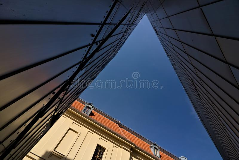 Berlin, Deutschland, am 13. Juni 2018 JÃ-¼ disches Museum lizenzfreies stockfoto