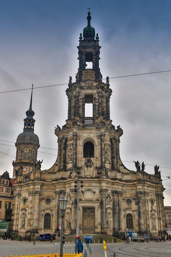 BERLIN, DEUTSCHLAND - 2. OKTOBER 2016: Histoirical-Mitte der alten Stadt Dresdens Dresden hat eine lange Geschichte als stockfotos