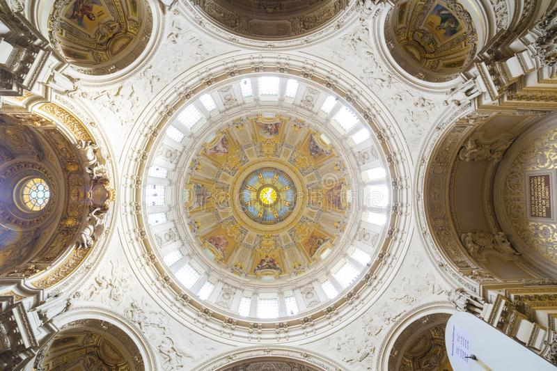 The Berlin Dome cupola interior view royalty free stock photos
