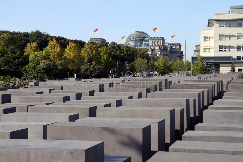berlin förintelseminnesmärke royaltyfri fotografi