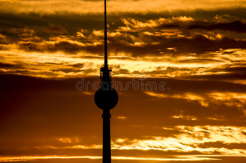 Berlin fernsehturm/ TV tower royalty free stock photos
