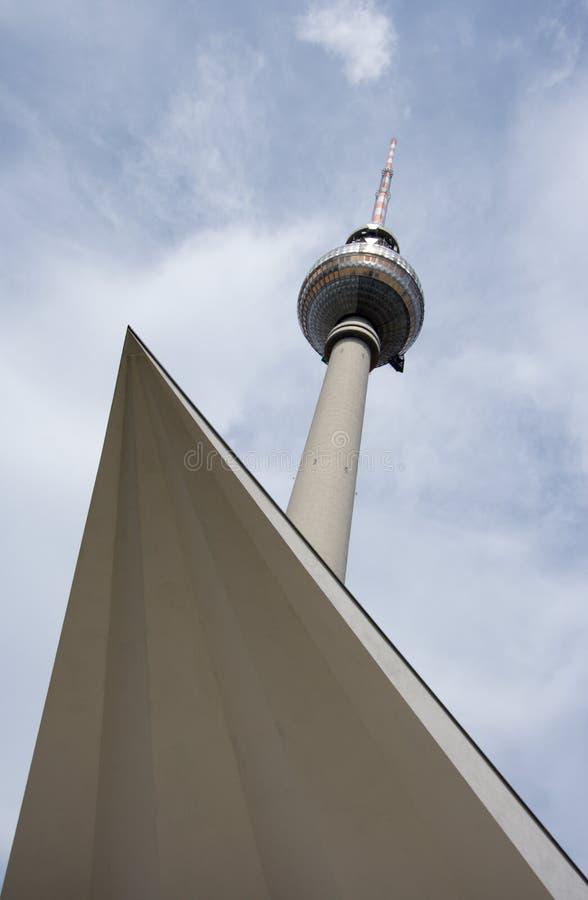 Berlin Fernsehturm Alexanderplatz lizenzfreies stockfoto