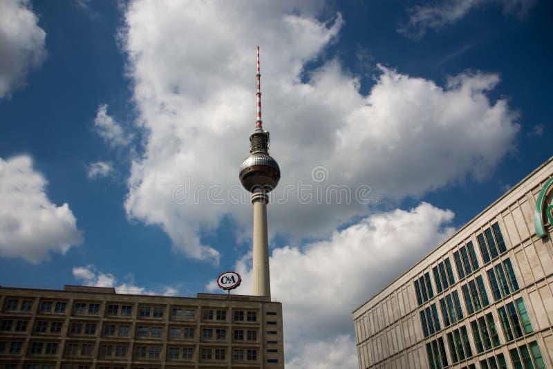TV Tower Berlin Alexanderplatz stock images