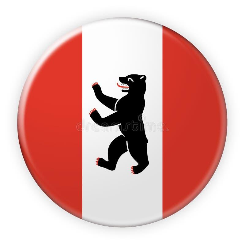 Berlin Flag Badge, 3d illustratie op witte achtergrond stock illustratie