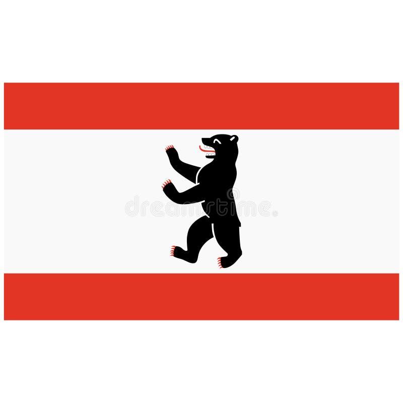 Berlin flag royalty free illustration