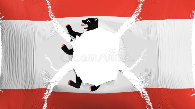 Berlin flaga z dziurą royalty ilustracja