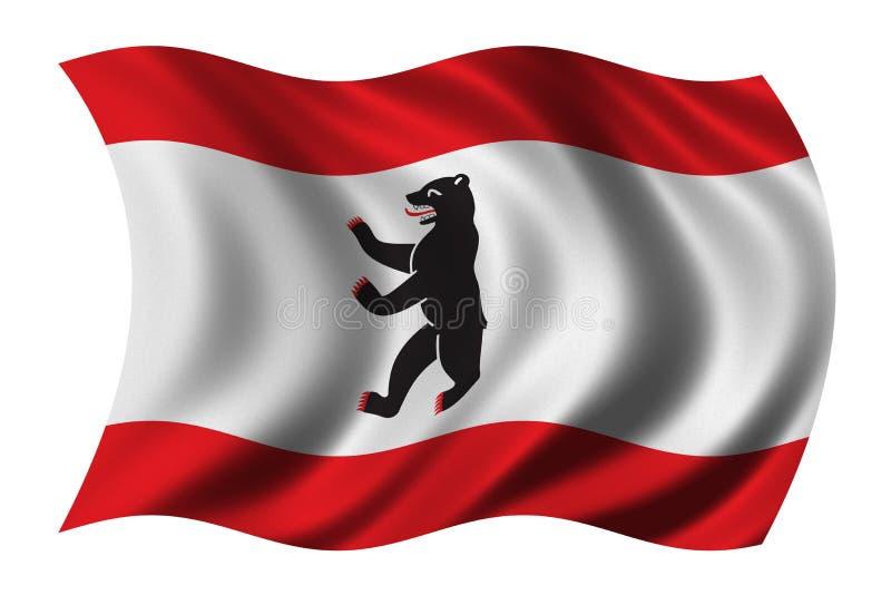 berlin flagga royaltyfri illustrationer