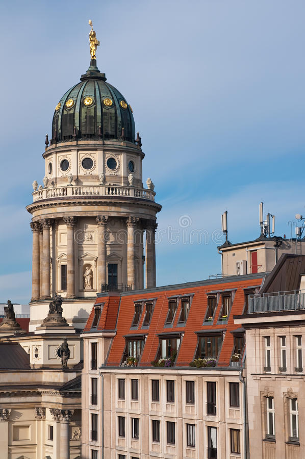 Berlin, French cathedral stock photos