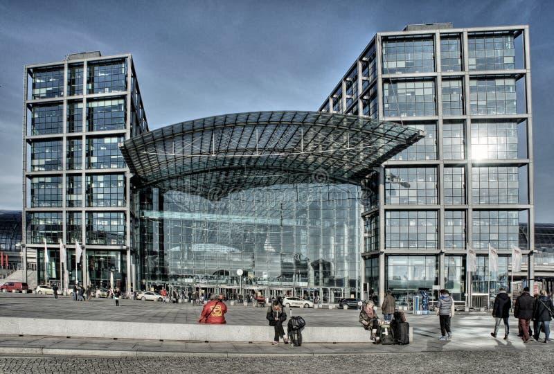 Berlin - Główna stacja - hauptstation zdjęcia royalty free