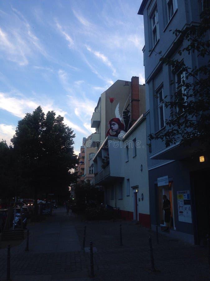 Berlin gatakonst arkivbild