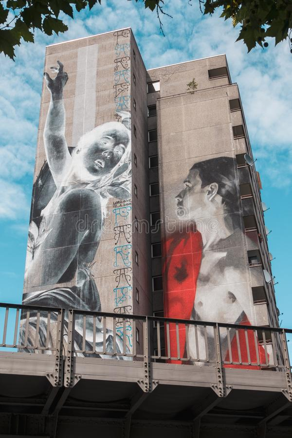 Berlin-Gebäudemalereien lizenzfreie stockbilder