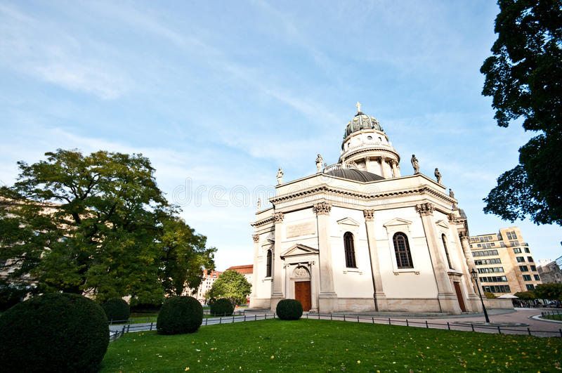 Berlin Gendarmenmarkt church stock photography