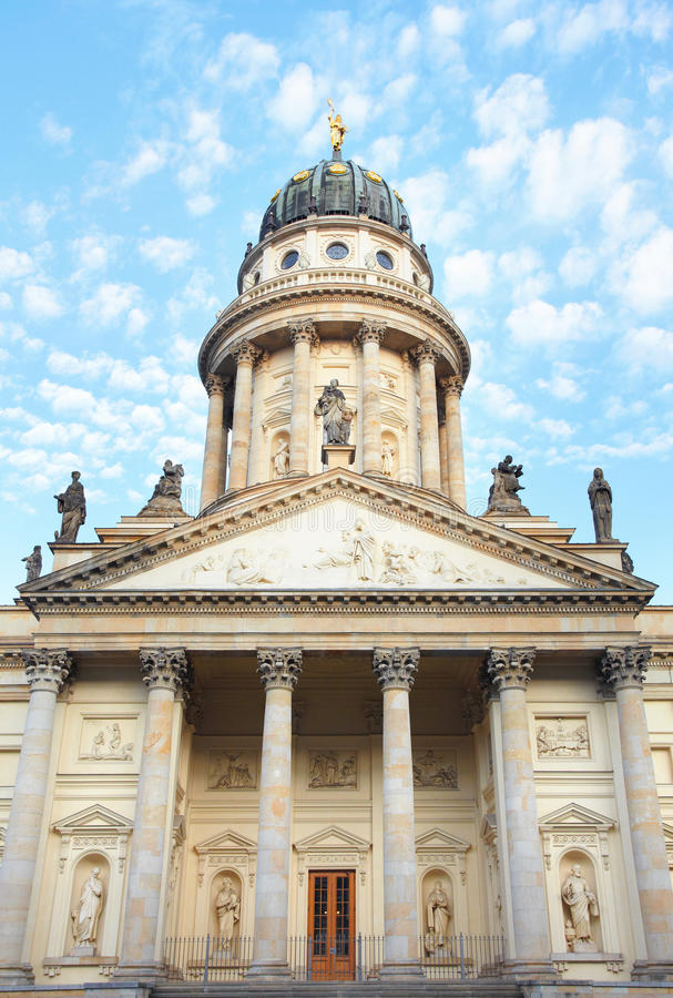 Berlin, Gendarmenmarkt, French Cathedral. Gendarmenmarkt, French Cathedral or Franzosischer Dom facade royalty free stock photography
