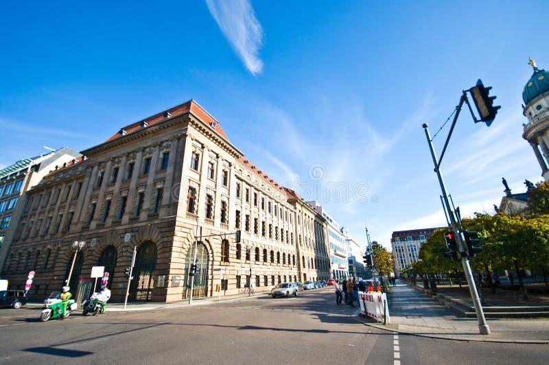 Berlin, Gendarmenmarkt plaza wide panorama royalty free stock photos