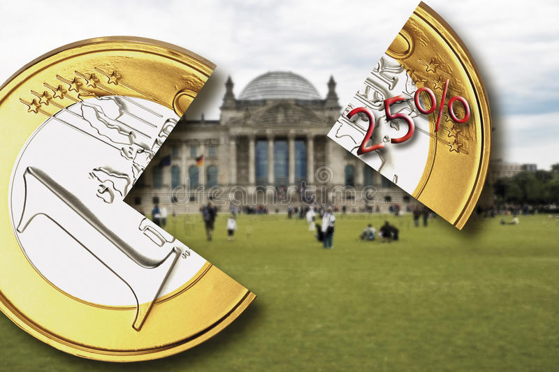 Berlin, the German parliament building, Reichstag, Withholding tax, close-up stock images