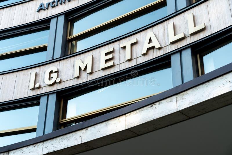 IG Metall. Berlin, Germany - April 19, 2019: Headquarters of IG Metall German: Industriegewerkschaft Metall, Industrial Union of Metalworkers`, dominant stock photos