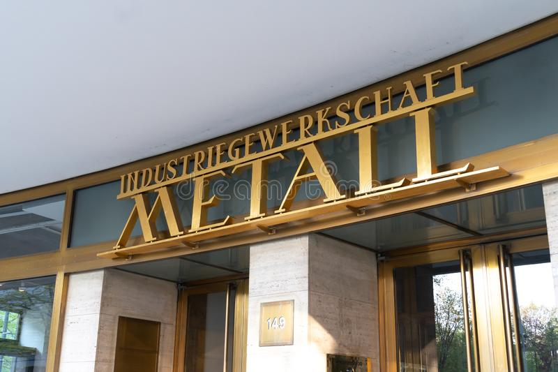 IG Metall. Berlin, Germany - April 19, 2019: Headquarters of IG Metall German: Industriegewerkschaft Metall, Industrial Union of Metalworkers`, dominant stock photo