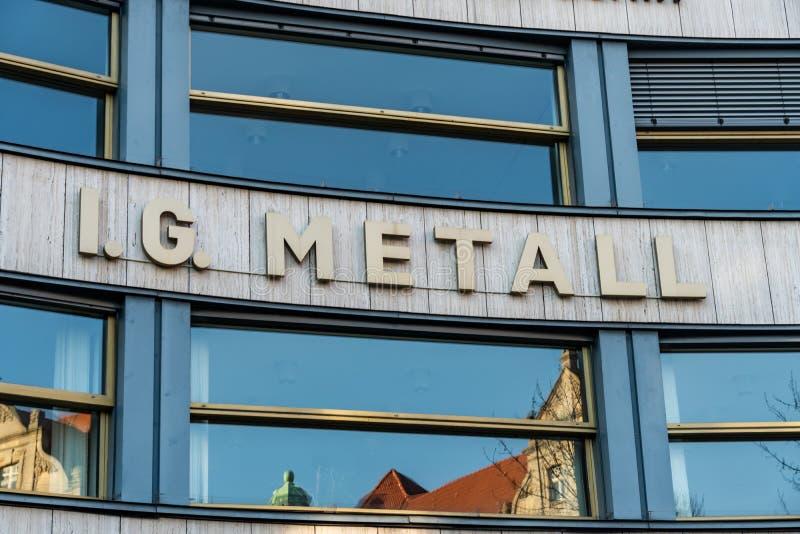 IG Metall. Berlin, Germany - April 19, 2019: Headquarters of IG Metall German: Industriegewerkschaft Metall, Industrial Union of Metalworkers`, dominant stock image