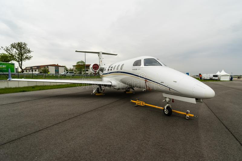 Light business jet Embraer EMB-505 Phenom 300. royalty free stock photography