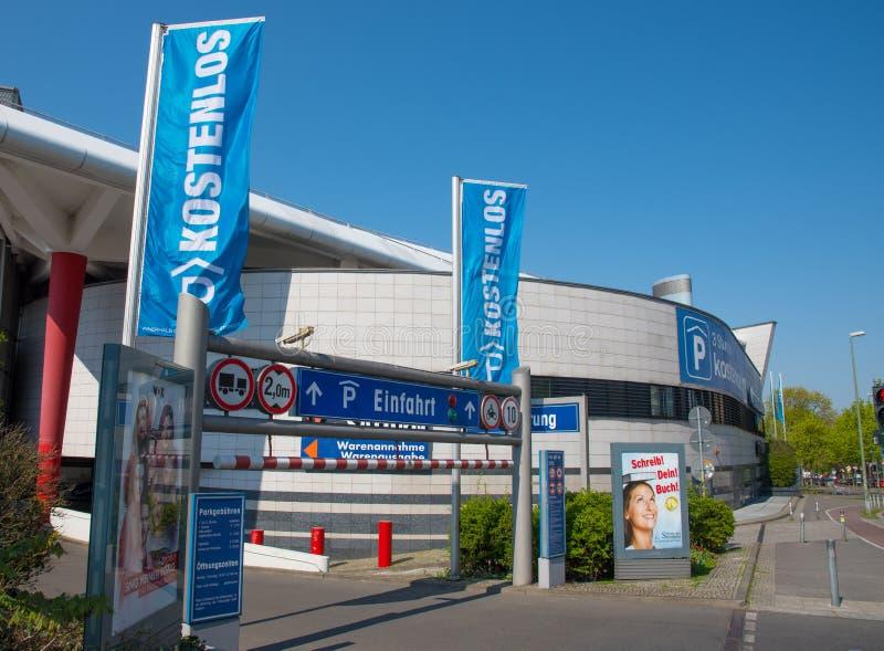 Parking garage at Gesundbrunnen Shopping mall stock images