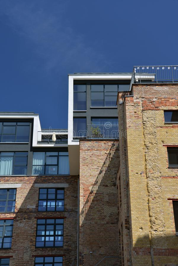 berlin germany Arkitekturåterställandeprojekt fotografering för bildbyråer