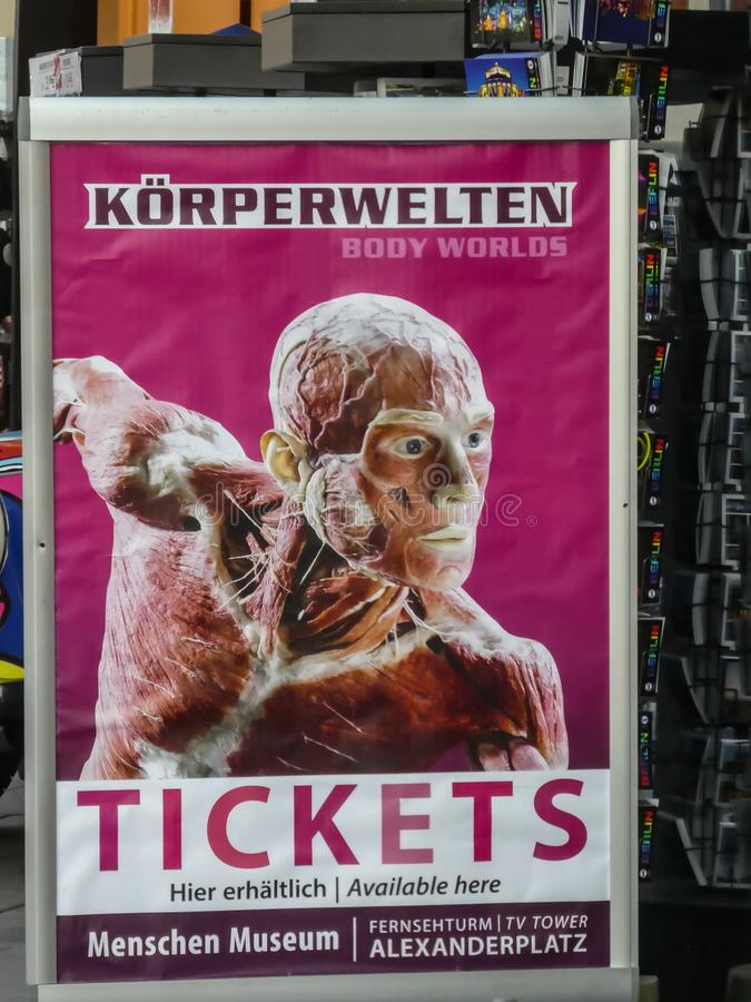 Poster of the Body Worlds exhibition royalty free stock photos