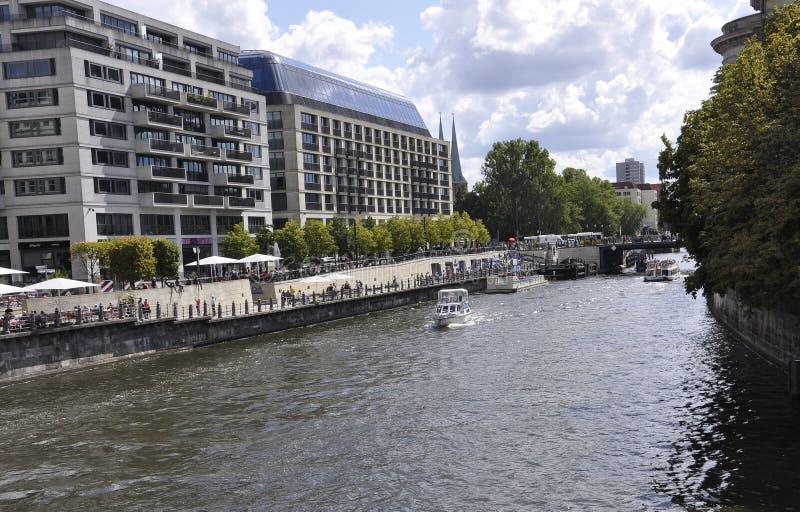 Berlin,Germany-august 27:River Spree landscape from Berlin in Germany royalty free stock photo