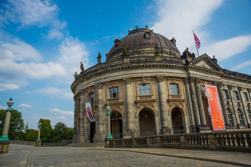 Berlin, Germany: The Bode Museum on the museum island in the Mitte district of Berlin royalty free stock photos
