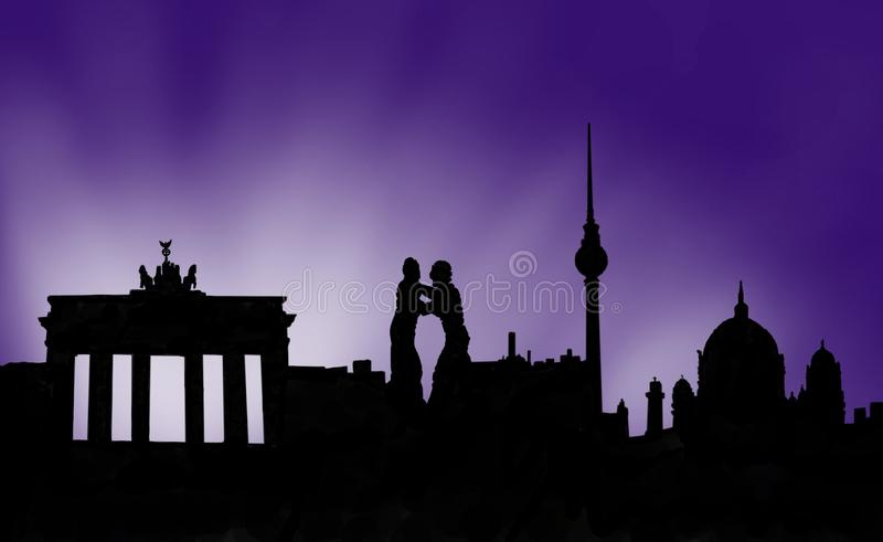 Berlin Germany Capital ilustração royalty free