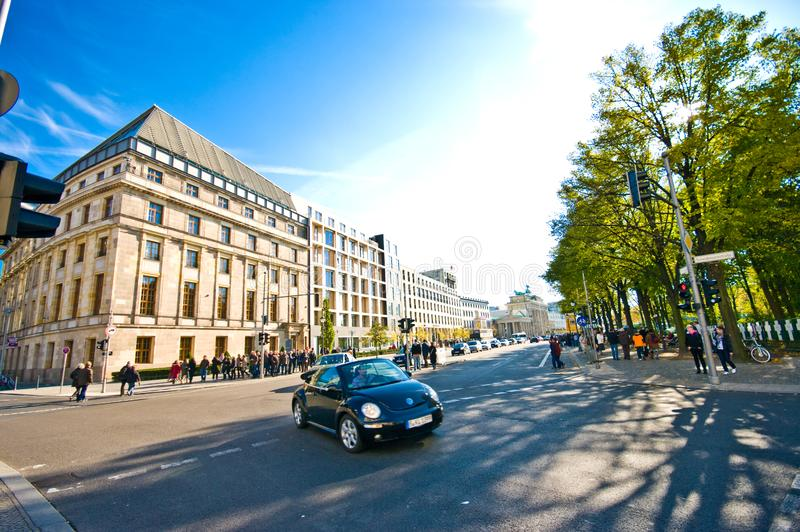 Berlin Germany 2010: capital city centre near Reichstag royalty free stock images