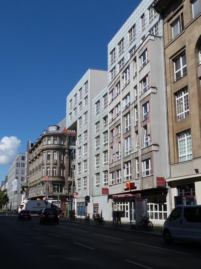 Berlin Germany, center street stock image