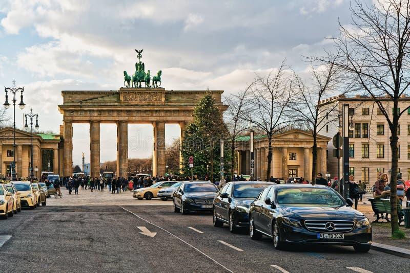 Berlin, Germany - December 8, 2017: Brandenburg Gate Building in Berlin, Germany stock photo