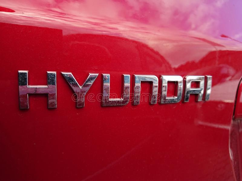 Hyundai car royalty free stock photos