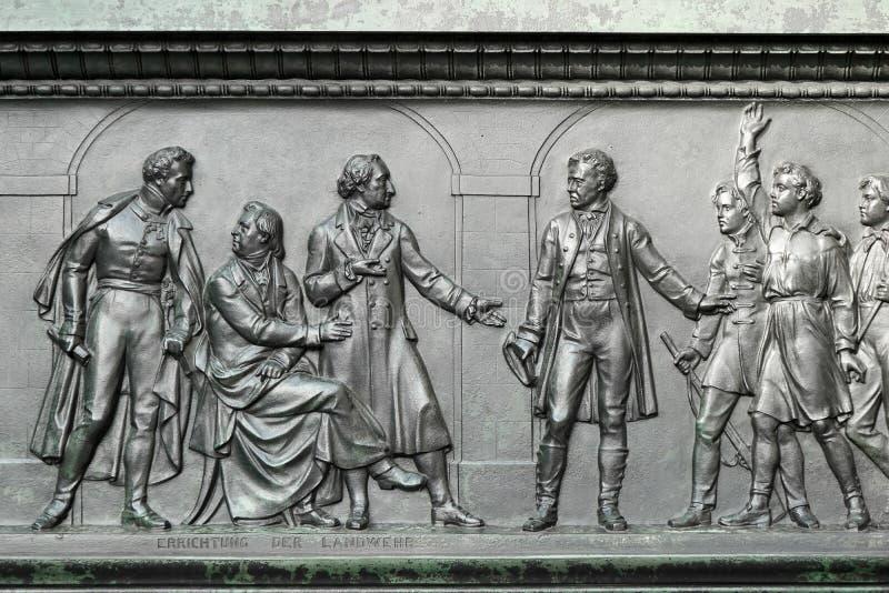 BERLIN, GERMANY/EUROPE - 15. SEPTEMBER: Detail vom Monument stockfoto