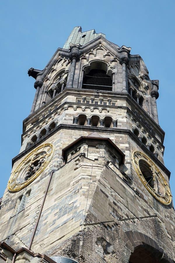 BERLIN GERMANY/EUROPE - SEPTEMBER 15: Kejsare Wilhelm Memorial arkivbilder