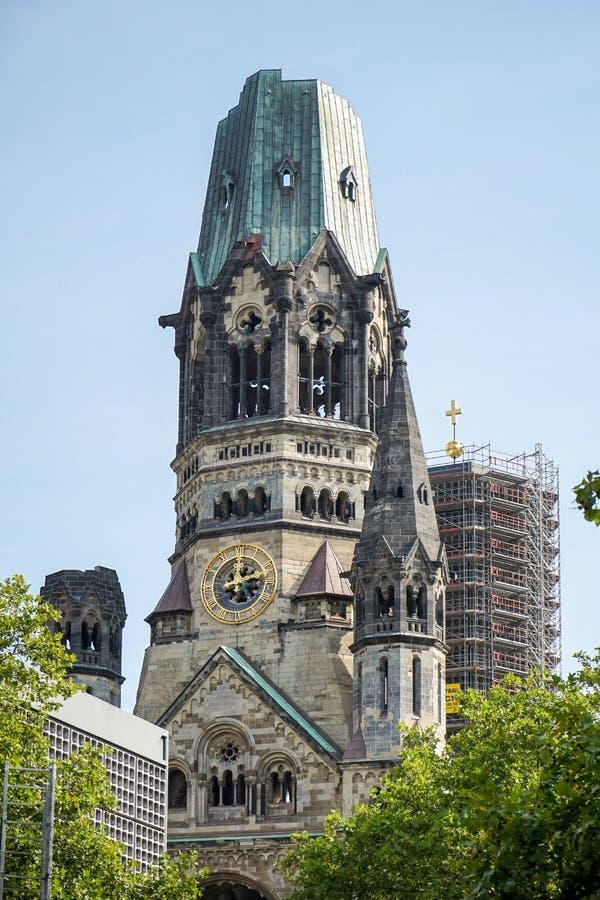 BERLIN GERMANY/EUROPE - SEPTEMBER 15: Kejsare Wilhelm Memorial royaltyfri fotografi