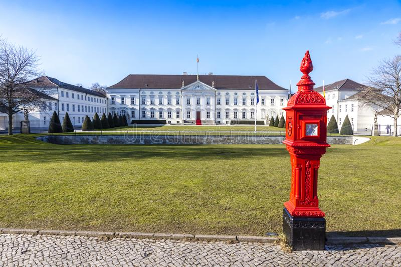 Bellevue Palace Schloss Bellevue in Berlin, Germany royalty free stock image