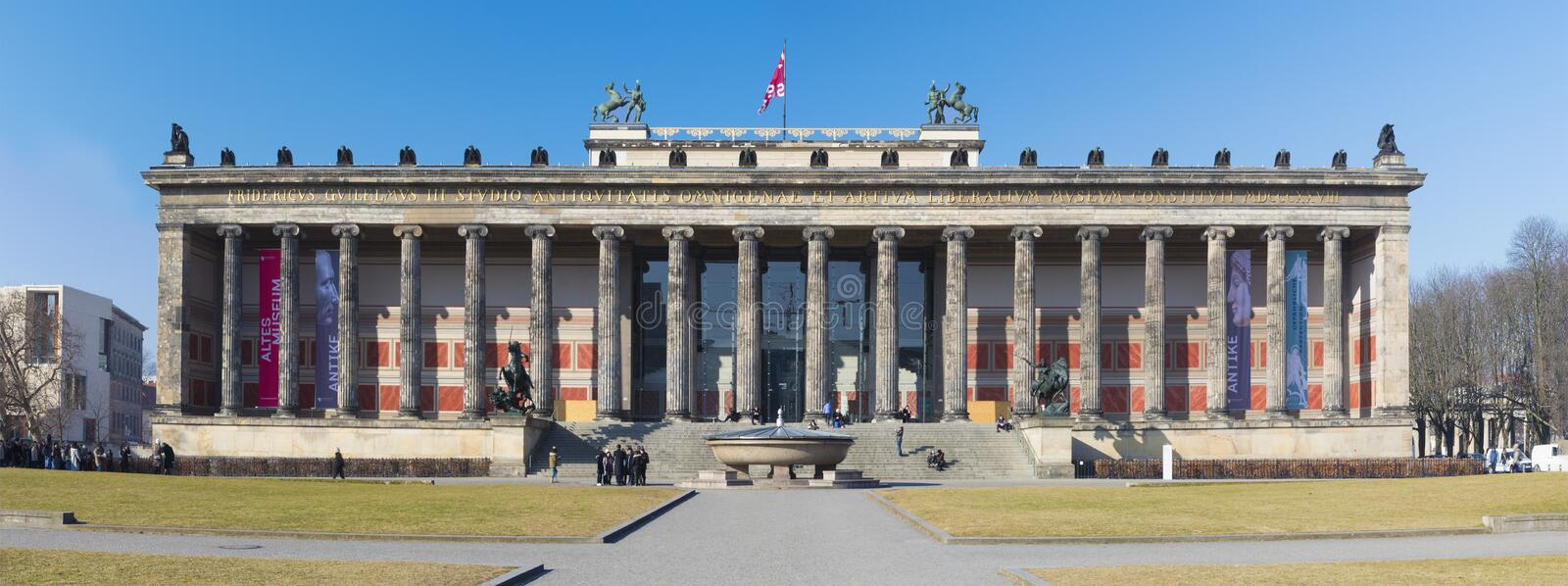 BERLIN, GERMANY, FEBRUARY - 14, 2017: The classical building of Old National Gallery Altes Museum stock images