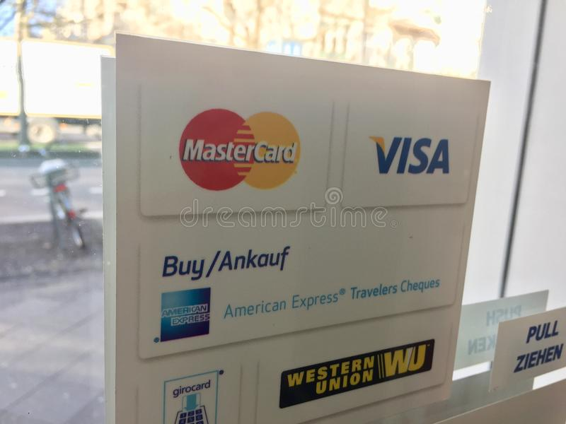 Brands of payment systems stock photos
