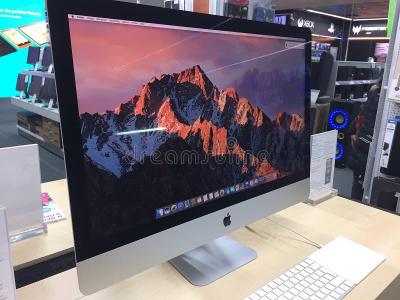 Mac computer laptop monitor stock photography