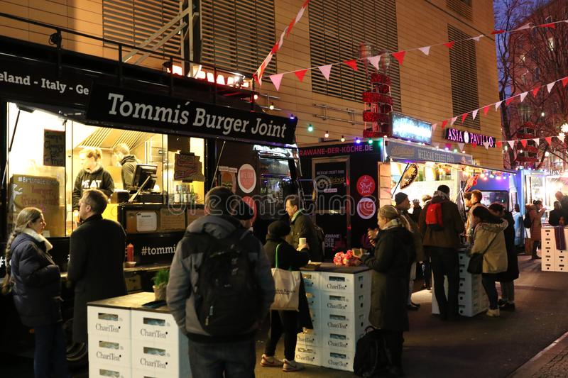 Tommi`s Burger Joint truck royalty free stock images
