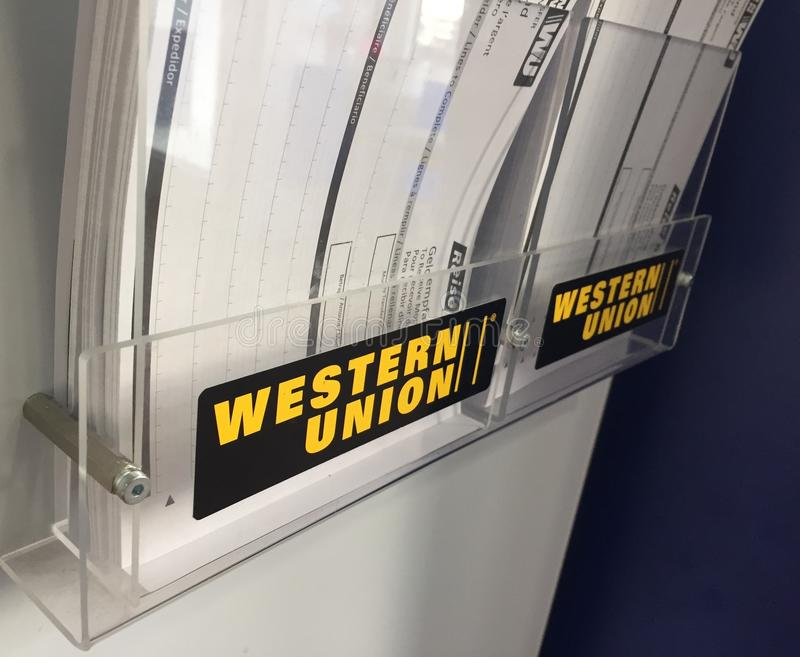 Western Union sign royalty free stock photos