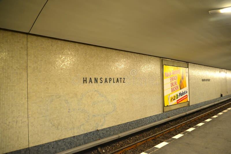 berlin Germany Hanzaplatz stacja metru zdjęcia stock