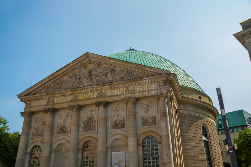 Berlin, Germany: Hedwig`s Cathedral in Germany`s capital. Berlin, Europe stock image