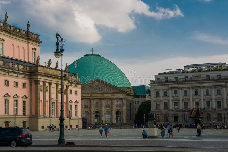 Berlin, Germany: Hedwig`s Cathedral in Germany`s capital. Berlin, Europe royalty free stock images