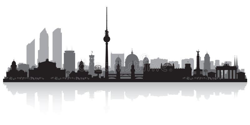 Berlin Germany-het silhouet van de stadshorizon royalty-vrije illustratie