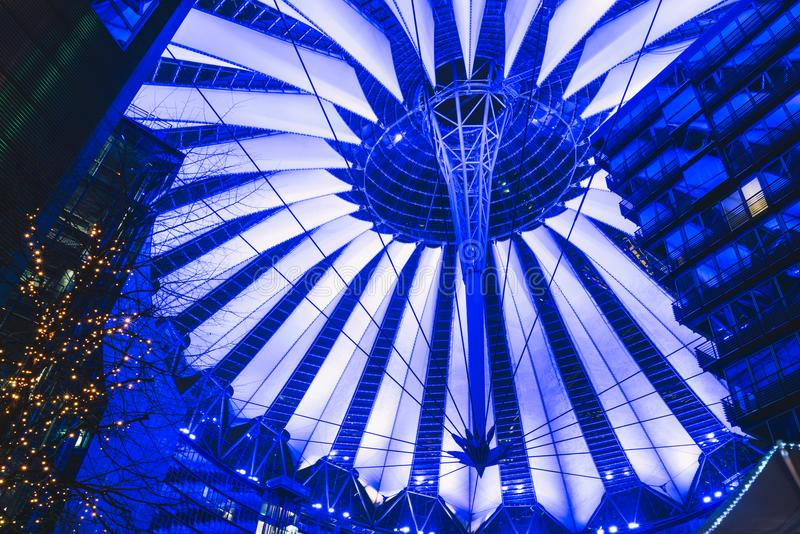 Roof of Sony Center in Berlin royalty free stock photography