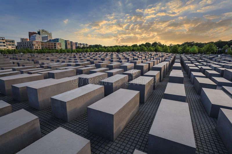 Jewish Holocaust Memorial - Berlin - Germany royalty free stock image