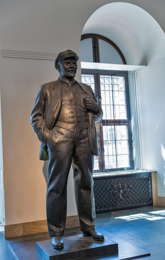 Lenin statue in the German History Museum in Berlin, Germany stock photo